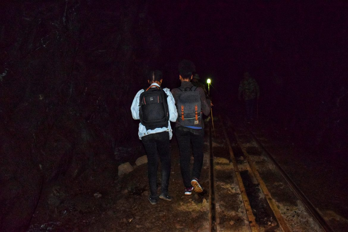 Walking inside the haunted Buxton tunnel